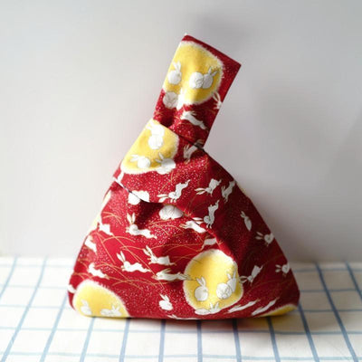 Original Japanese Red Rabbit Pattern Bag