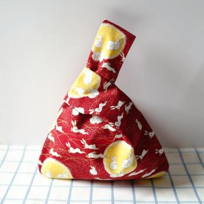 Japanese Red Rabbit Pattern Bag