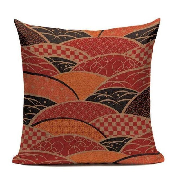 Japanese Pattern Pillowcase - Keikan