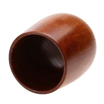 Japanese Wooden Tea Cup brown