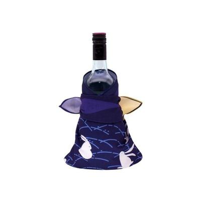 Furoshiki fabric Rabbits and Moon for sake bottle