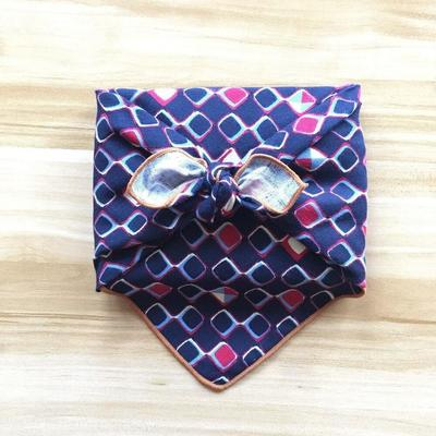 Furoshiki diamond fabric blue color