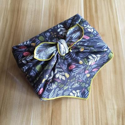 Furoshiki Plants Fabric blue color