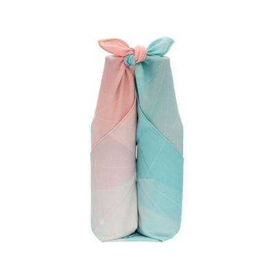Japanese Furoshiki Fabric Pink and Blue