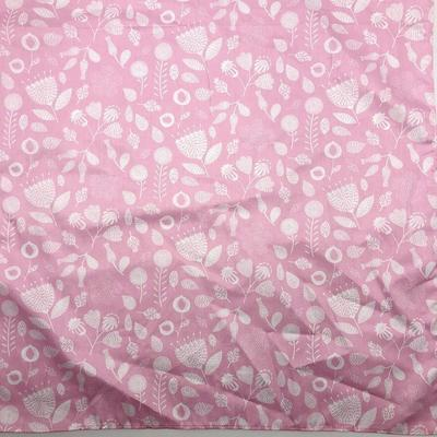 Furoshiki Fabric Pink Field Flowers