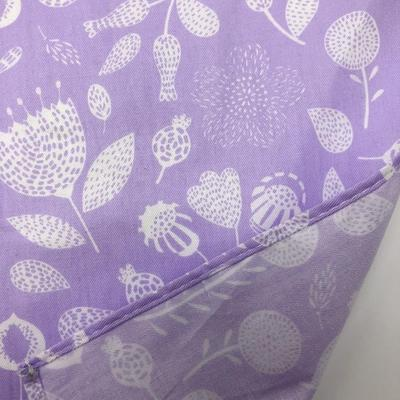 Japanese Purple Field Flowers Furoshiki Fabric