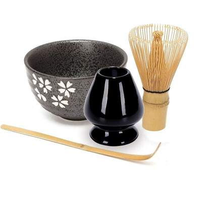 Japanese Traditional Utensils Matcha Tea Flowering