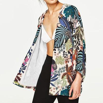 Women's Floral Kimono Jacket made in japan