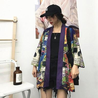 Women's Skull Kimono Jacket for home