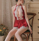 Classy Boss Vintage Satin Lace Babydoll Nightwear, Plus Sizes Available