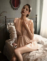 Give Into Love Vintage Silky Babydoll Lingerie Dress
