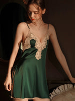 Enchanting Satin Lace Nightgown