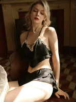 Sweet Satin Lingerie Set, Best for Bachelorette Party and Boudoir Shooting