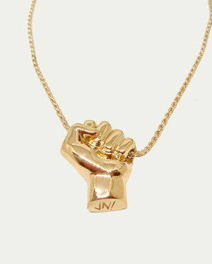 BIG ALL POWER FIST NECKLACE