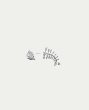 FISHBONE SINGLE EARRING