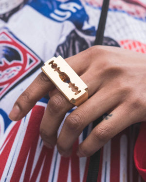 NEW EDGE RAZOR 2 FINGER RING