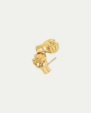 ALL POWER FIST STUD EARRINGS