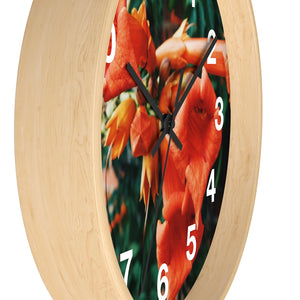 Dreamsicle : Honeysuckle Wall Clock