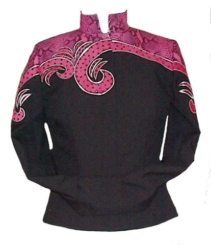 SOLD Budget Jacket, Blk/Pink Snakeskin, Ladies M, 5006A