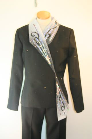 03101a Ladies L Show Jacket, Blk and White