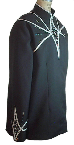 Black White Showmanship Jacket, Budget Friendly, Ladies XXL