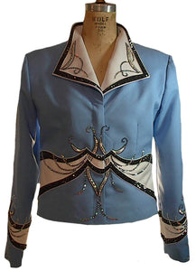 Blue Showmanship Outfit, Budget Friendly, Ladies L, 5080AB