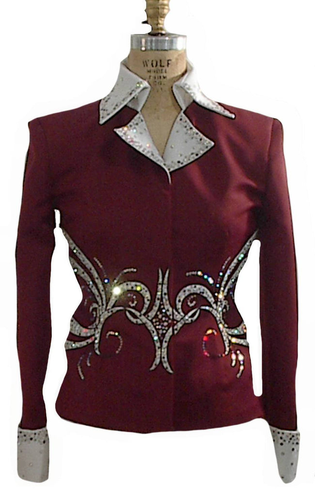 Burgundy/White Showmanship Outfit, Ladies M, 1896AB