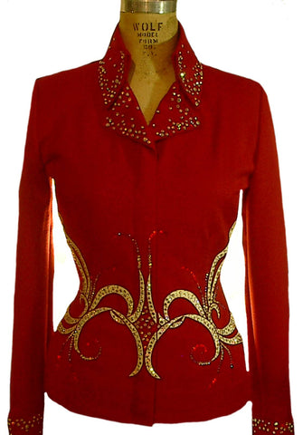 Budget Brick Red Showmanship Outfit, Ladies XS, 1483AB
