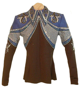 Black and Royal Equitation Blouse, Ladies XS, 1666C