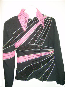 Black and Pink Showmanship Outfit, Ladies S, 1666AB