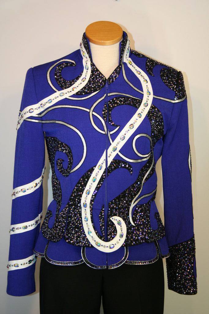 Royal Blue Ladies M Showmanship Jacket, 5290A