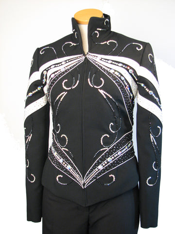Ladies L, Black/Turquoise Showmanship Jacket, 1510A