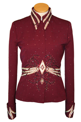 Burgundy Showmanship Outfit, Ladies M, 5754ABC