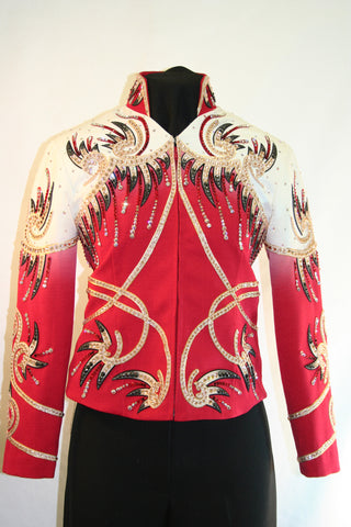 Red Showmanship Outfit w/Chaps, Ladies S, 1478ABC