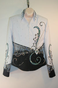 Black and White Showmanship Jacket, Ladies XSm 1681C