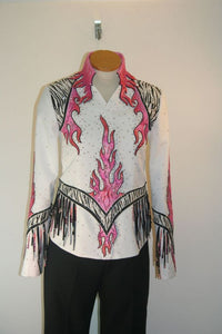 #1157a White Size S Pleasure Show Jacket