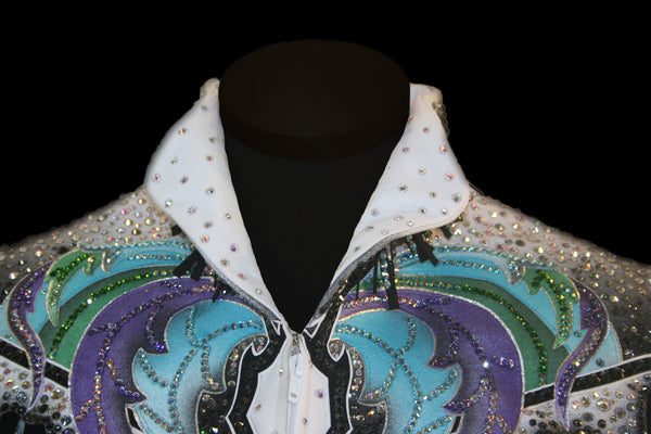 White/Black/Aqua/Lavendar/Green Pleasure Jacket, Ladies M 1809A