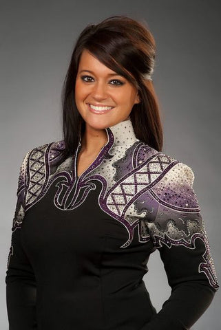 SOLD #1184 Size M Equitation Show Blouse