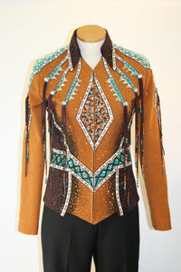 Chocolate/Bronze Showmanship Outfit w/3 Pants, Ladies S, 0494ABCD