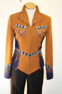 SOLD #1215 Bronze and Navy Show Jacket Showmanship/Halter Outfit