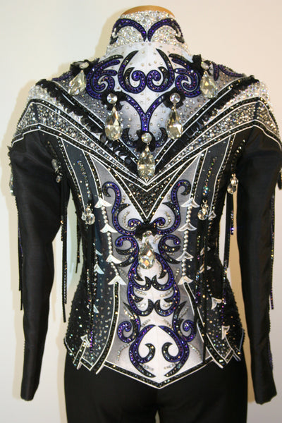 Black Showmanship or Pleasure Jacket, Ladies S, 1479A