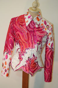 Ladies XS Pink Showmanship Outfit 1587AB