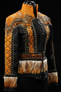 #1246 Black and Bronze Western Pleasure Show Jacket, Ladies M  3203-44