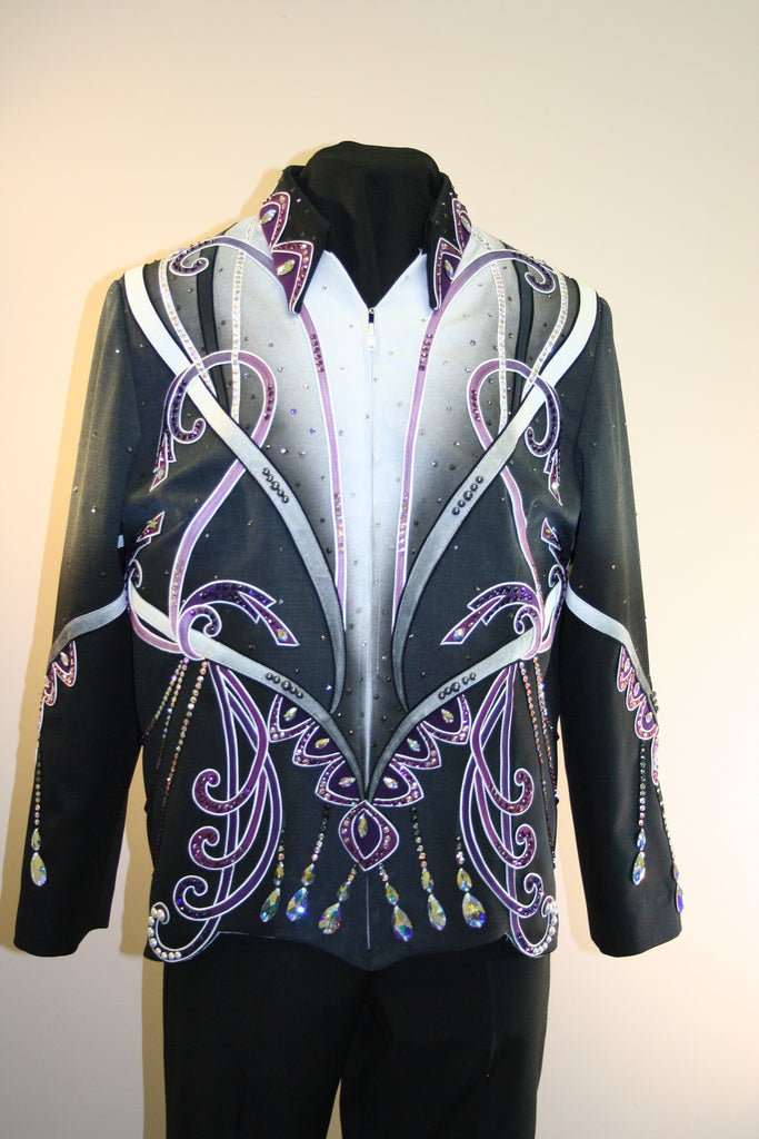 Black and Purple Showmanship Outfit, Ladies XL, 1897AB