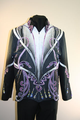 Budget Black and Purple Showmanship Outfit, Ladies XL, 1897AB