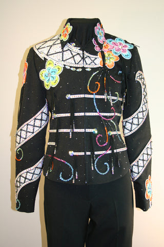 Black Stretch Show Jacket, Ladies S, 8019-3