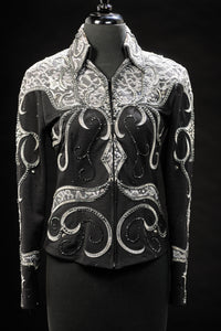 #1437 Black and Grey Show Jacket, Ladies S