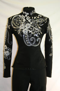 #1512 Black Show Blouse, Ladies S, 3203-38