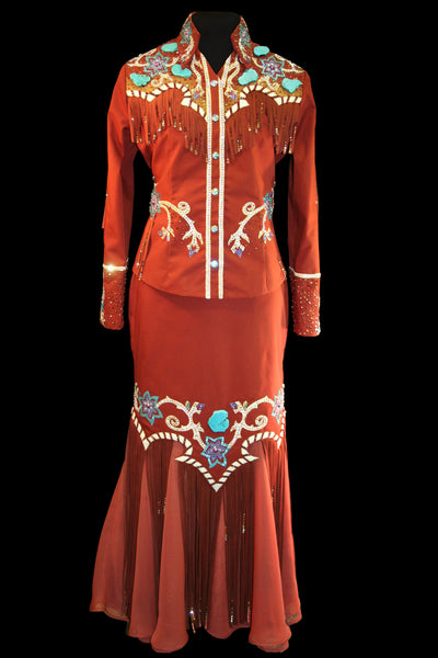 Rust Queen Outfit, Jacket and Skirt, 1592CD