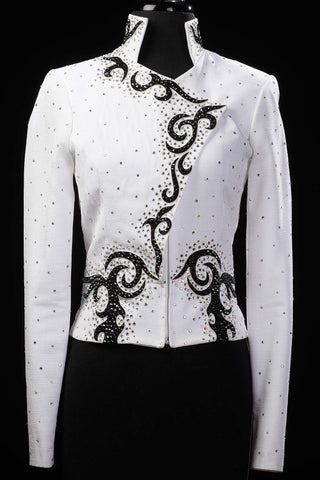Black and White Jacket, Blouse and Pants, Ladies S 1969CDE